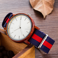 Simple wooden mens watch with nylon strap,promotional wholesale wood watch on alibaba