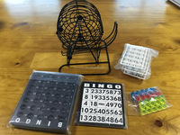 Deluxe Wire Cage Bingo Set/Complete Bingo Game Set/Royal Bingo Supplies Jumbo Bingo Game