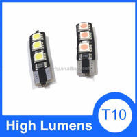 New products high quality T10 6SMD auto parts led light, 5050 canbus bulbs led light t10