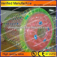 Durable colorful PVC/TPU wooden roller coaster for sale