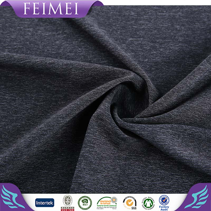 2016 Feimei Knitting 58%Nylon 27%Poly 15%Span NT Marl Warp Fabric With High Quality