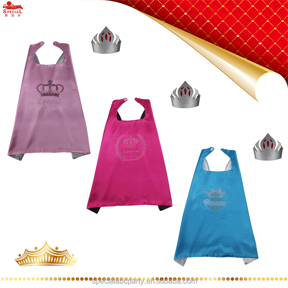SPECIAL Princess Superhero Cape with Crown for kids Dress-Up at Any Party Birthday Gift