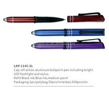 Best selling aluminum and LED light pen