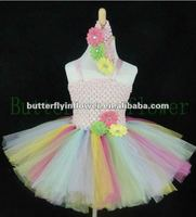 2012 new design cute baby girl tutu dresses baby banque dresses