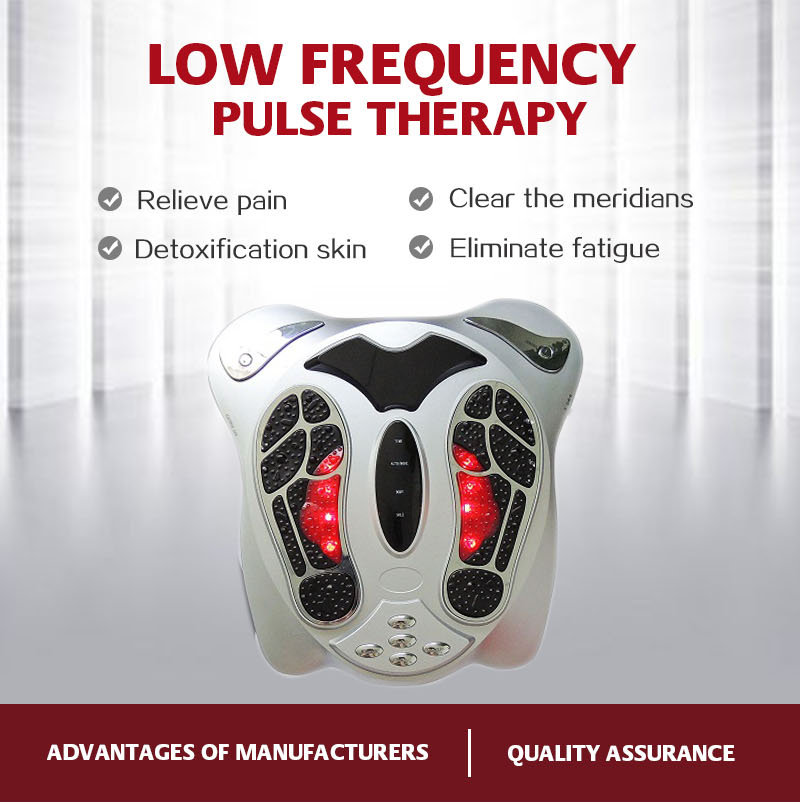 Factory wholesale Acupunture electric stimulation pulse foot massager with remote control