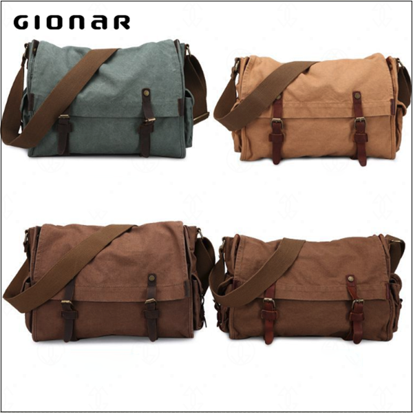 Hot selling cheap school packaging canvas messenger bag