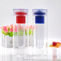 750ml fruit water bottle with filter,clear plastic water bottle
