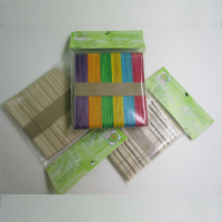 eco-friendly birch wood colored ice cream craft sticks