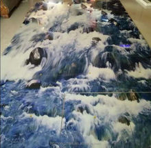 sea wave ceramic 3d wall and floor tile china supplier 3d tile 060