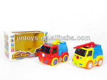 Battery Operated Fire Engine with Light and Music,cartoon fire engine,Mini Fire Toy Car(2Sizes)