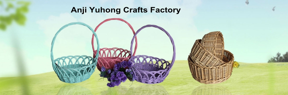 Storage Willow Basket With Handles Convenient For Picnic