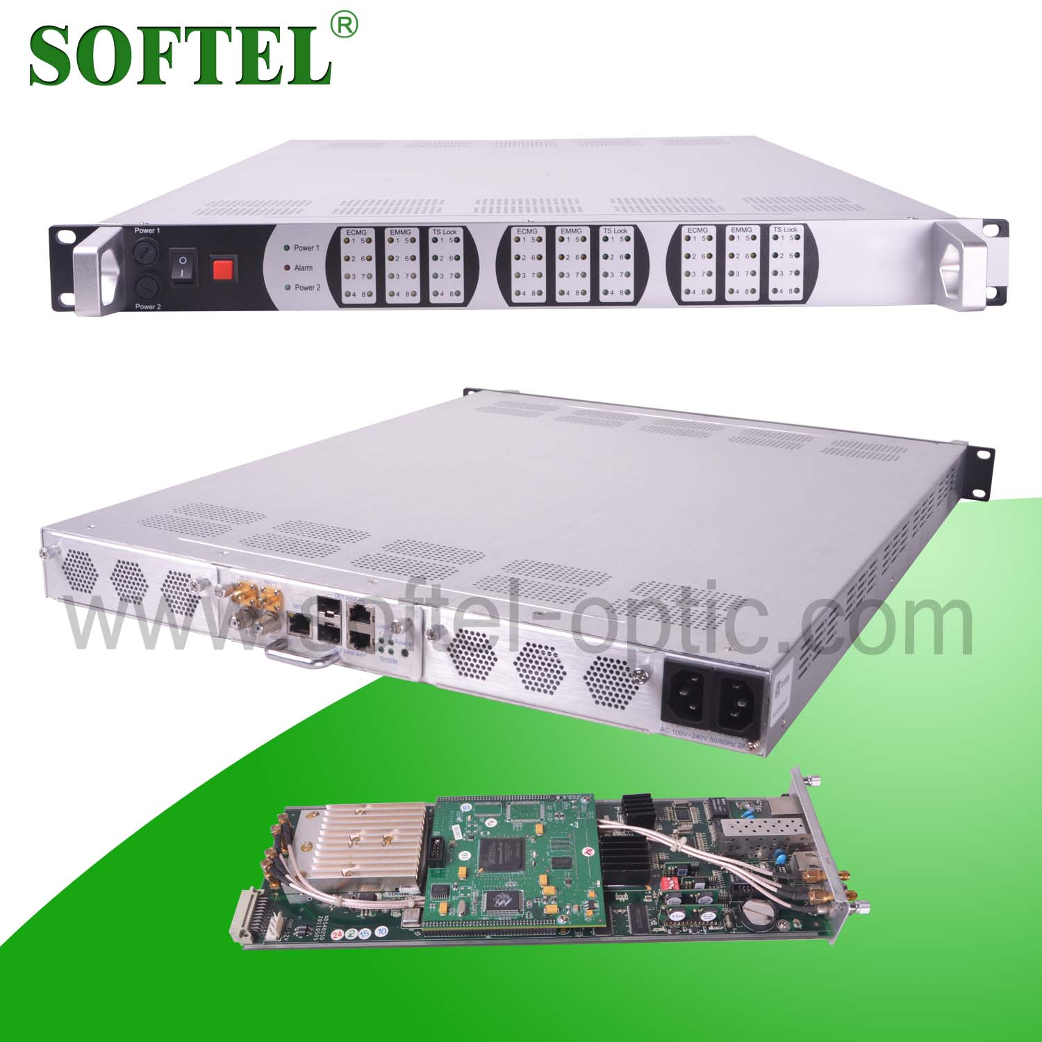 SFT328A dvb-c qam modulator,2 RF input/UDP/RTP / 1U support 3 module,4 U supprt 12 modules/headend products