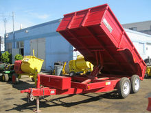 NEW Big Bee 2012 Red Dump Trailer - 12ft x 6ft