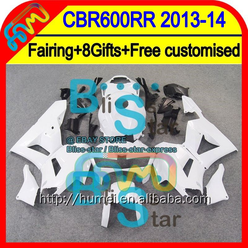 8Gift ALL White+ For HONDA CBR600RR 13-14 CBR600 RR F5 28HM12 CBR 600RR 600 RR 13 14 2013 2014 Injection Fairing Glossy white