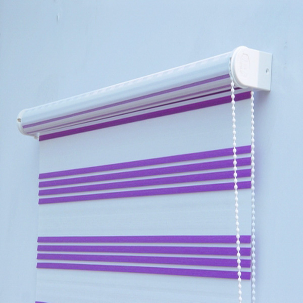 Manual zebra window shades stripe curtain