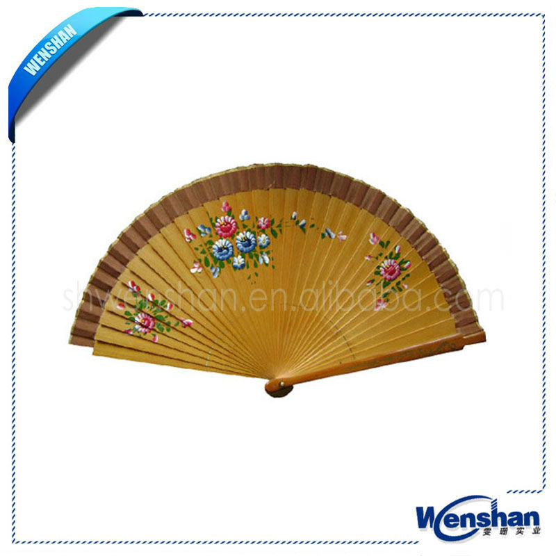 2013 new style spanish wooden handheld fan