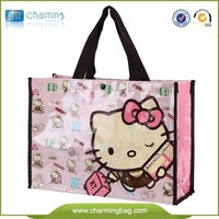 Cheap and high quality promotion pp non woven bag with PVC shopping bag pvc waterproof bag