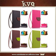 unique design flip magnetic wallet pu leather cases for Lenovo A5500