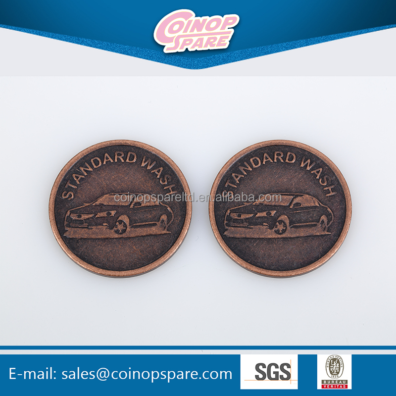 High quality special shopping cart grooved token