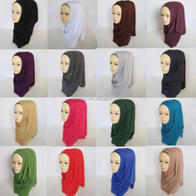 32 Color plain Cotton Women Dubai Indian Shawl Muslim Scarf Hijab