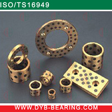 JDB Soild lubricating Graphite MoS2 insert OILES Bronze Steel Bushing/Slide sleeve and flange Guide bearing bushing