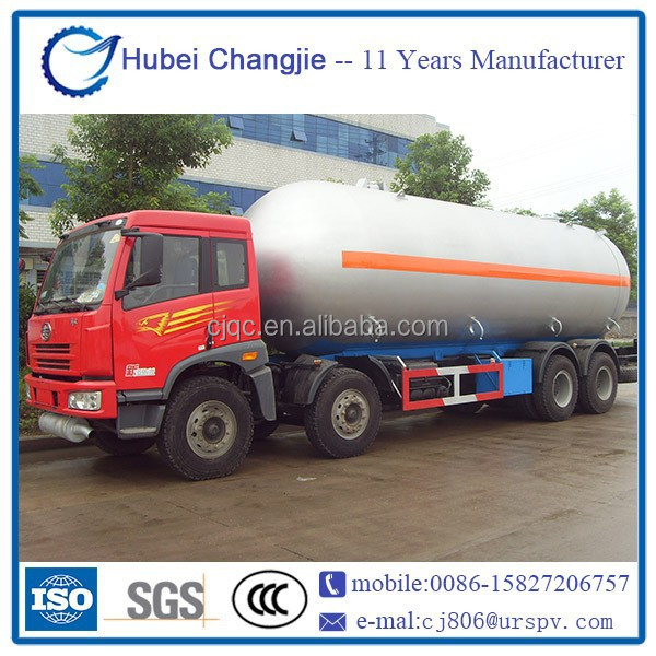 High quality Q370R FAW 35.5cubic meters lpg gas tanker truck price