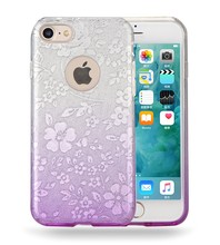 Alibaba fast delivery tpu pc mobile phone housing for iphone 7 glitter case