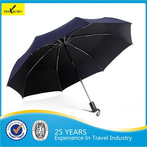 Portátil 190 T tecido de nylon de viagem dobrável guarda-chuva
