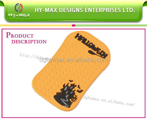 useful new design 3D PVC rubber mobile phone car phone mat