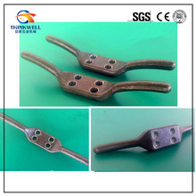 Factory Price Forged Steel Rope Trailers Covers Double Rope Cleat Hooks