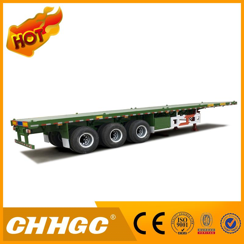 China supplier direct factory high flat bed semi trailer with high quality