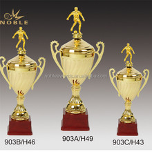 Gold Metal Soccer Ball Sports Trophy Cup