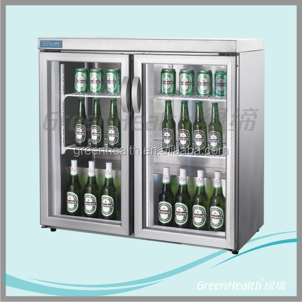 Stainless steel home glass door refrigerators