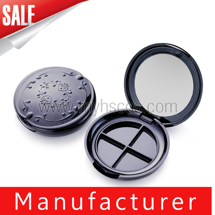 Wholesale Round 4 Color eyeshadow Cosmetic Packaging With Window