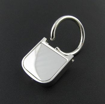 Custom blank stainless steel keychain