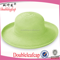 Fashion Women Raffia Straw Bowler Hat Hand Made Straw Derby Hat