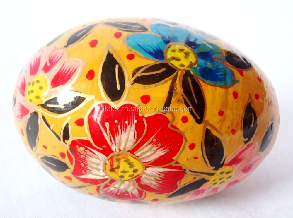 "Kashmir Paper Mache - Party/Festival/Special Occasion/Christmas Special - Decorative Hanging Easter Eggs (3"" Approx.)"