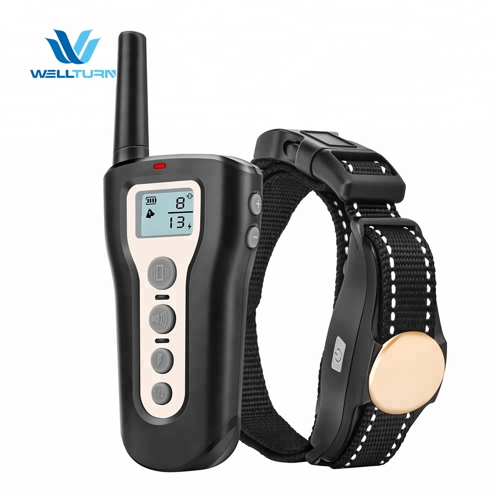 Dog training collar with remote no <strong>shock</strong> sonic anti bark deterrent