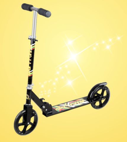 Black 2 wheel child scooter