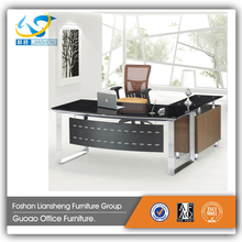 Modern Design Glass Top Wood Center Side Executive Office Table DG0026