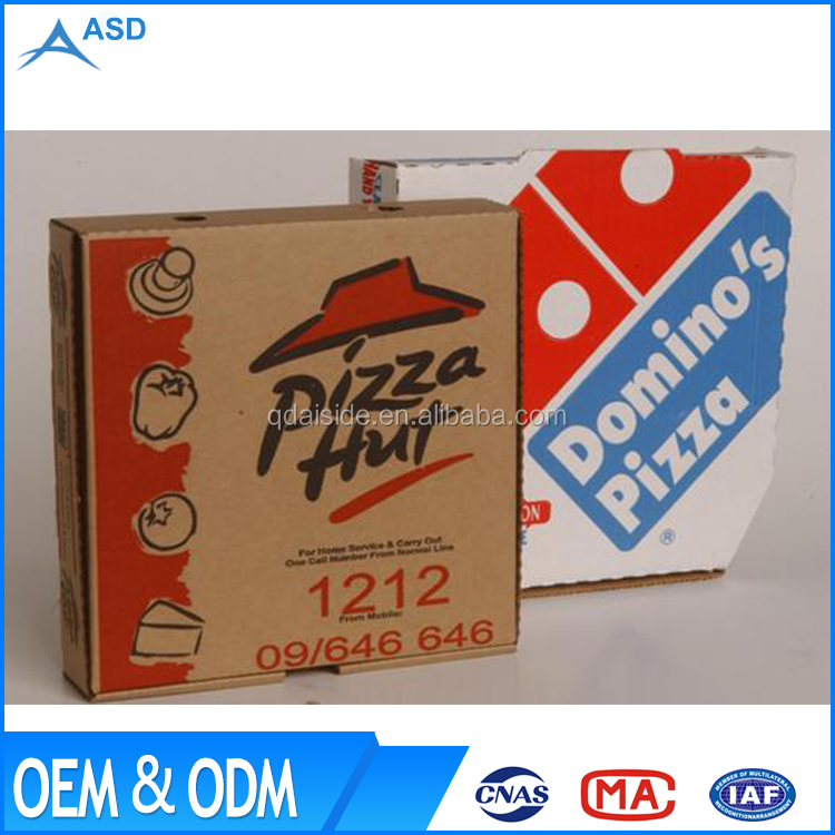 China Manufacturer Custom Recyclable Corrugate Paper Product Pizza Box Size Calculator Board Price
