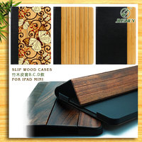 2015 wholesale handmade natural bamboo wood for ipad 6 case cover