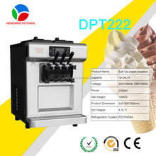 desktop 3 flavors italian soft serve machine ice cream/wholesale hot selling machine ice cream