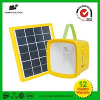 Hot sell portable solar FM radio solar led rechargeable camping lantern for no electricity areas
