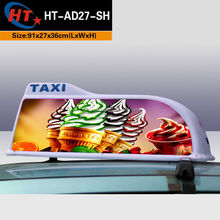 Waterproof advertising stickers led taxi cab top lights