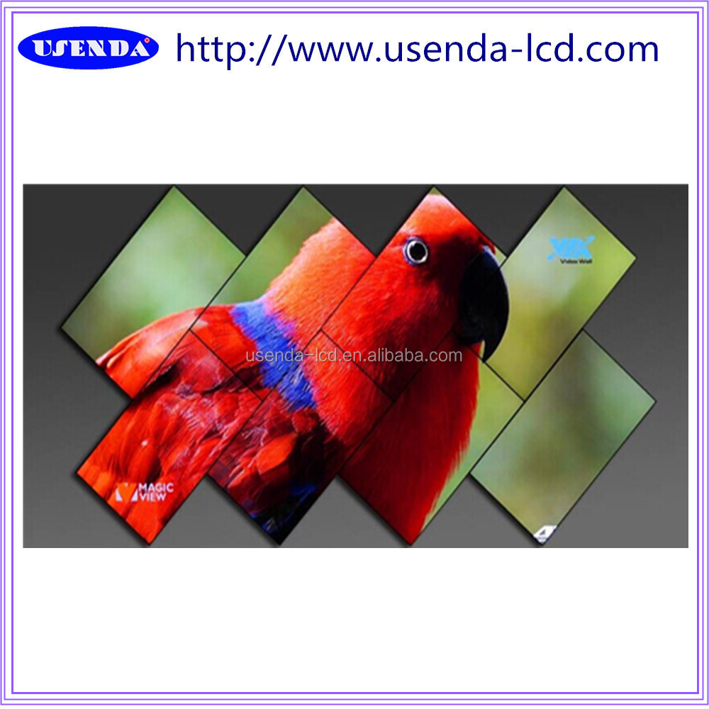 "47""55""Irregular creative Bar/Night club seamless Multi screen Led video wall display show"
