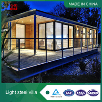 New Design High Quality Steel Structure Truss Light Steel and glass Frame House