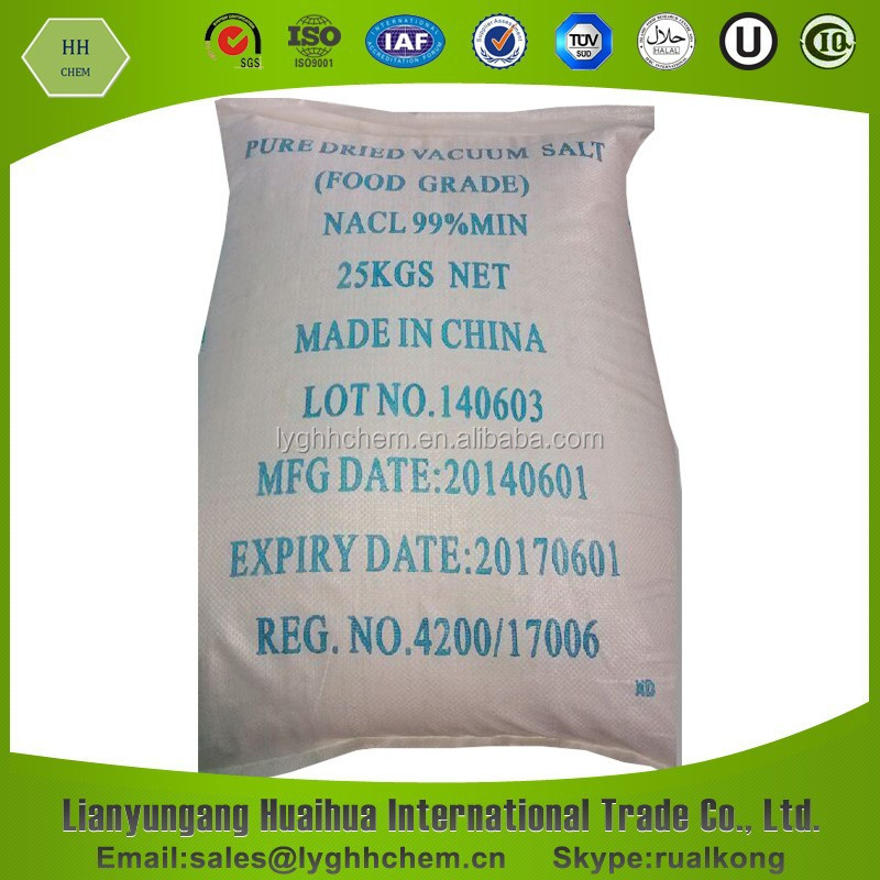 Food Grade Pure Dried Vacuum Salt
