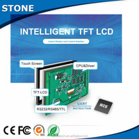 intelligent 7 inch resistive TFT LCD module panel and 800*480 resolution screen lcd touch with UART/ RS232/RS485/TTL port