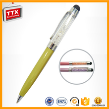 2016 Hot Selling Promotional advertising ballpen,crystal topped pen